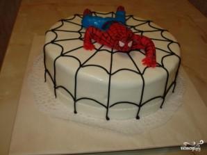 "Торт ""Спайдермен"" - фото шаг 9"