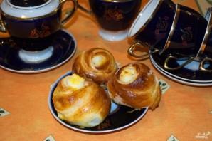 Пирожки с творогом из дрожжевого теста - фото шаг 10