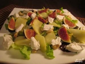 Салат с инжиром и козьим сыром - фото шаг 6