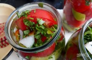 Салат из помидоров на зиму - фото шаг 4