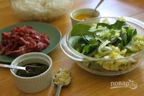 Лапша с говядиной и китайской капустой - фото шаг 4