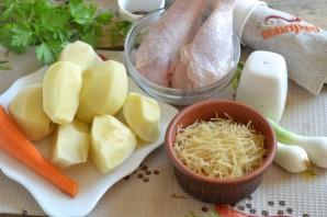 Куриный суп с вермишелью - фото шаг 1