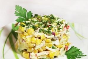 Салат с крабовыми палочками и рисом - фото шаг 3