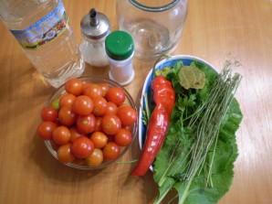 Закатка помидоров в литровые банки - фото шаг 1