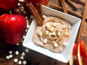 Сливочный соус-дип с корицей для фруктов - фото шаг 3