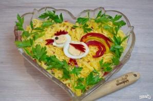 """Салат """"Петушок"""" с курицей и помидорами - фото шаг 5"""