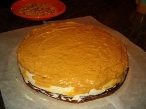"Торт ""Сникерс"" без выпекания - фото шаг 3"