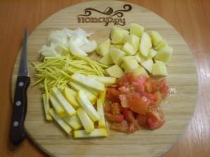 Курица с овощами с сметане - фото шаг 4