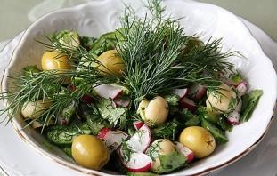 Салат с грибами шампиньонами консервированными - фото шаг 4