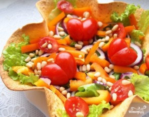 Овощной салат с бальзамическим уксусом - фото шаг 3