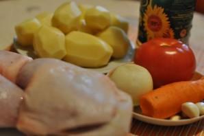 Курица с овощами в пакете для запекания - фото шаг 1