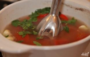 Томатный суп с мясом - фото шаг 10