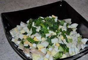 Салат с консервированными кальмарами - фото шаг 4