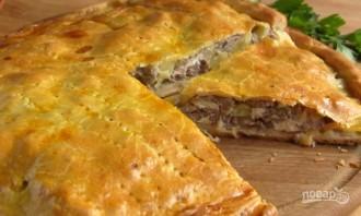 Простой мясной пирог с картошкой - фото шаг 9