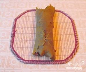 Роллы с виноградными листьями - фото шаг 5