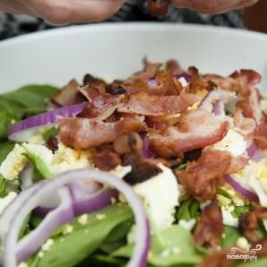 Салат со шпинатом и беконом - фото шаг 8