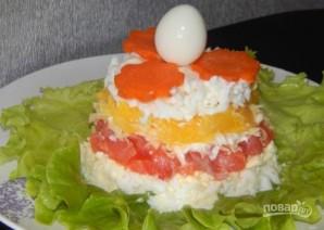 Салат с лососем и сыром - фото шаг 5