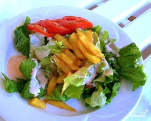 Салат с картофелем фри - фото шаг 9