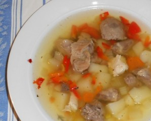 Суп из желудков и сердечек - фото шаг 8