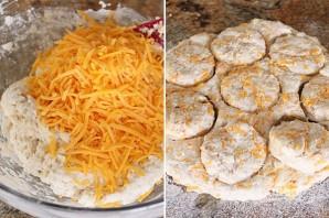Закусочные сырные печенюшки - фото шаг 4