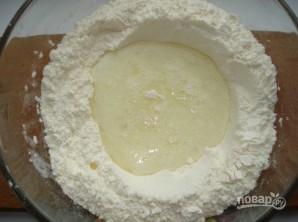 Дрожжевое тесто с творогом в духовке - фото шаг 2