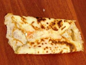 Блинчики с семгой и сыром   - фото шаг 9