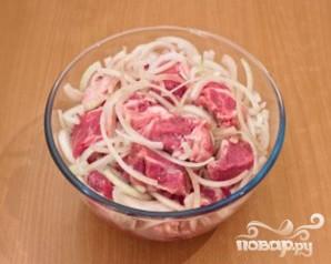 Шашлык из свинины, маринованый в помидорах - фото шаг 4