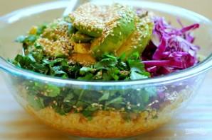 Салат к запеченной красной рыбе - фото шаг 5