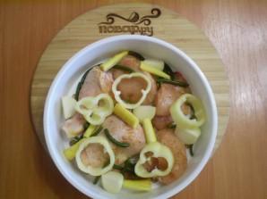 Курица с овощами в пароварке - фото шаг 4