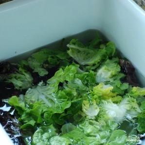 Весенний салат с французской заправкой - фото шаг 1