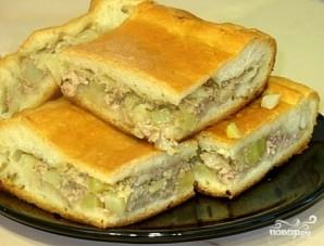 Пирог с мясом и картофелем - фото шаг 8