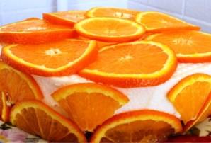 Торт с апельсинами и йогуртом - фото шаг 4