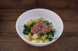 Диетический салат с консервированным тунцом - фото шаг 3