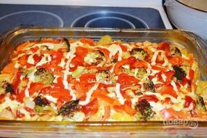 Красная рыба с овощами в духовке - фото шаг 12