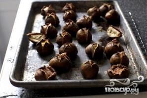 Печенье с запеченными каштанами - фото шаг 1