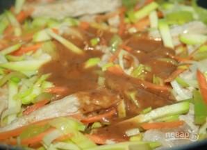 Китайская лапша со свининой - фото шаг 3