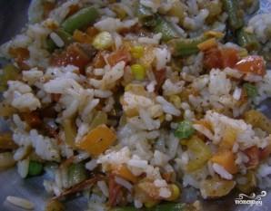Кальмары, фаршированные рисом и овощами - фото шаг 7