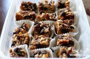 Пирожные с шоколадом, сгущенкой и орехами - фото шаг 4