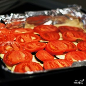 Пирог из слоеного теста с сыром и баклажаном - фото шаг 6