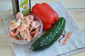 Постный салат с креветками - фото шаг 1