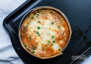 Киш с сыром, горошком и мятой - фото шаг 6