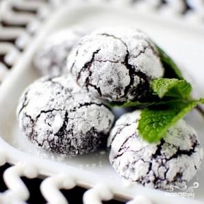 Печенье с мятой и темным шоколадом - фото шаг 10