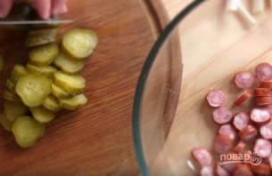 """Салат """"Сытный"""" с картофелем, яйцом и помидорами - фото шаг 3"""