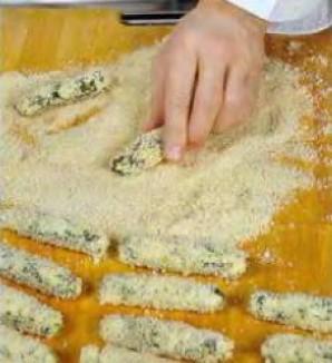 """""""Пальчики"""" из щавеля, кинзы и сыра. - фото шаг 3"""