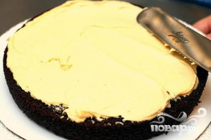 Шоколадный пирог с арахисовым кремом - фото шаг 2
