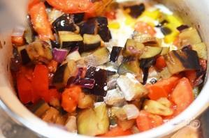 Суп из баклажанов с помидорами - фото шаг 3