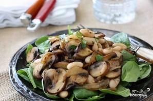 Постный салат с грибами и фасолью - фото шаг 4