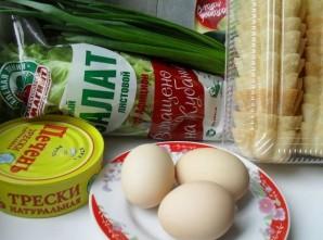 Тарталетки с печенью трески и яйцом - фото шаг 1