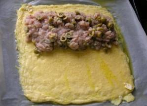 Рулет из сыра с курицей - фото шаг 5