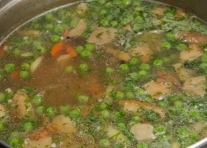 Грибной суп из замороженных грибов   - фото шаг 9